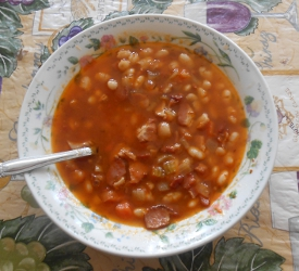 Bean and Bacon Soup and Mussolini