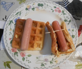 Potato Waffle with Hot Dog, Wars, and Manners