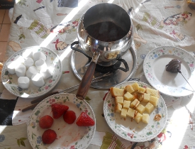 Chocolate Fondue and War