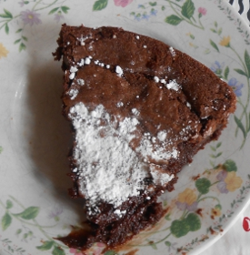 Chocolate Sticky Cake and the Garden of Eden