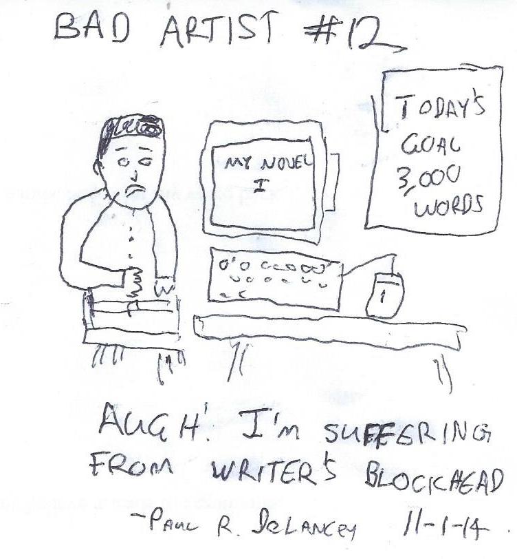 Bad Artist #12, Writing