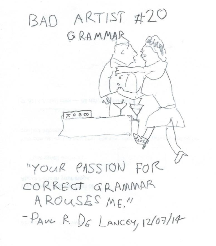 Bad Artist #20, Grammar