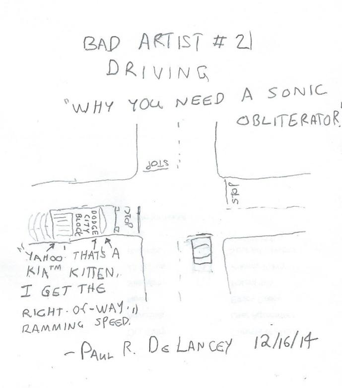 Bad Artist #21, Driving